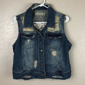 Buckle Denim Vest